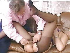 Blonde Mature In Pantyhose