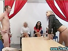 Cfnm group femdom office girls blowjob oral