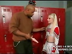 Hot blond cheerleader likes it anal