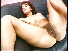 Huge Insertions Hairy Pussy