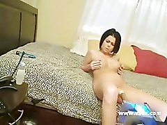 Busty Loni Evans sex machine webcam