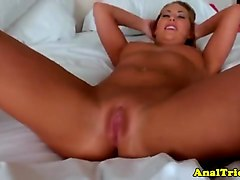 assfucking blonde exgf rubbing her clit