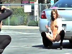 melanie rios photoshoot in parking lot