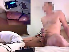 hands free electro cum and pip montage of cum