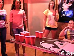 college girls play party games and suck off dicks