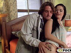 sultry babe katrina jade banged so deep in the bedroom