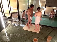 skinny japanese babe gets used by three young dudes