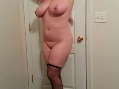 36g Tits Lateshay Black Stockings And Heels Tease