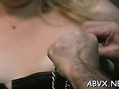 extreme bondage video with cutie obeying the bawdy play
