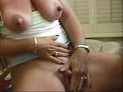 Slut Granny Big Nipples Stroking Her Big Clit