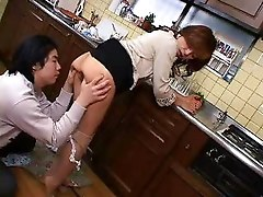 Asian Lesbian In The Kitchen