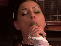 Maid Anetta Masturbates In The Kitchen!