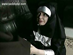 Horny Naught Nun Is Counting How Many Times She Is Spanked On Her Ass And Begs For Forgiveness