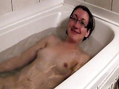 Bathing Time For Nerd Girl